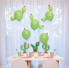 Need a unique idea for Valentine's Day? How about a Cactus Party for kids!? Check out the Cactus Balloon DIY