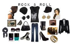 Rock & Roll by mommabrandy on Polyvore featuring polyvore fashion style Thomas Wylde Alexander McQueen Hollister Co. Oasis Promise Shoes Barratts Akira Miss Selfridge Vince Camuto Dorothy Perkins BCBGMAXAZRIA MANGO Butter London women's clothing women's fashion women female woman misses juniors studs snakeskin rocker chic beanies