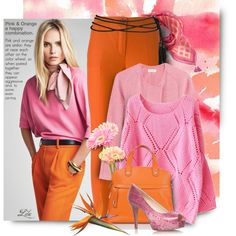 *Pink & Orange -  happy combination by breathing-style on Polyvore featuring Étoile Isabel Marant, Erika Cavallini Semi-Couture, Nine West and Vera Bradley