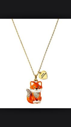 Juicy Couture fox necklace #juicycouture