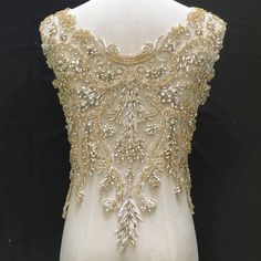 Items similar to 3 Colors Super Luxury Rhinestone Crystal Applique For Bridal Accessories Wedding Dress Sash Haute Couture Costume Embellishment on Etsy Wedding Dress Sash, Couture Wedding Gowns, Bridal Sash, Gold Wedding Gowns, Stunning Wedding Dresses, Bridal Gowns, India Wedding, Beautiful Dresses, Crystal Beads