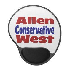 Allen West Conservative Gel Mouse Pad