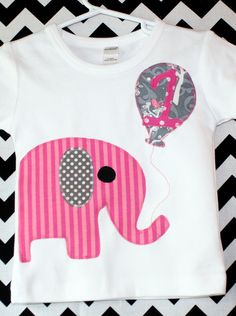 Elephant Birthday Shirt--available in short or long sleeves, tank and bodysuit styles. $28.00, via Etsy.