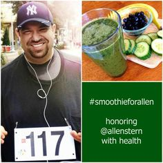 RIP @allenstern was a healthy living blogger and cherished friend of mine. I will miss him so much. He loved smoothies. Tomorrow 4/9 is his funeral, and in his honor I've been asking people online to make a smoothie, take a picture of it, list what's in it and tag it #smoothieforallen @allenstern. We can spread healthiness and celebrate Allen's life. Thank you!  On 4/9 Post #smoothieforallen: Honoring Blogger @AllenStern With a Toast of Health