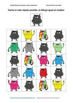 Hoy compartimos con vosotros una entretenida actividad para trabajar la atención de los mas pequeños con el monstruo de colores al mismo tiempo que podemos ir trabajando y reconociendo las … Speech Language Therapy, Speech And Language, After School, Back To School, Monster Activities, Les Sentiments, Art Therapy, Kindergarten, Alphabet