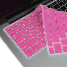 4bd9328985e Hot Pink Arabic / English Silicone Keyboard Cover for Macbook Pro 13