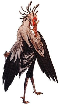 ninmenjuushin:    fiendfriend:    suncalf:    hmm possible sketchy design of tsu's secretary bird monster, zantetsuryuu    why's this got so many notes uh    SO MANY PEOPLE LOVE MY PRECIOUS BABY    Secretary birds are fucking awesome, that's why.
