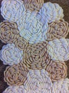 ergahandmade: Crochet Flower Carpet + Free Pattern