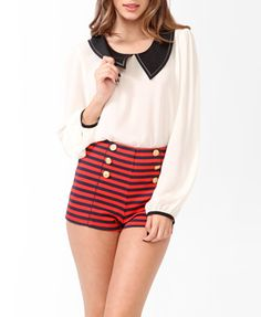 Pointed Collar Top | FOREVER 21 - 2030187397