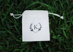 Custom Monogram Cotton Canvas Thank You Bag, Recovery Kit Bag, Wedding Welcome Bag, Bridesmaids Bag, Party Favor Bag, Wedding Favor Bag