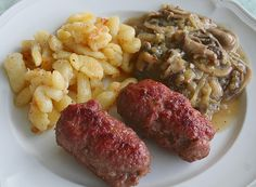 German beef steak Hunter style is a great German dish that you will love! It is not really a steak as it is made out of ground meat. Authentic German recipe