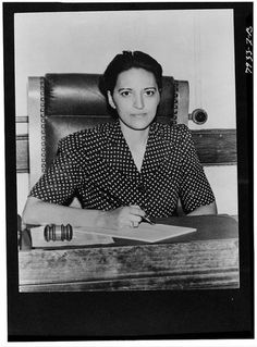 Jane Bolin, the first African-American woman to serve as a judge in the United States, the first African-American woman to graduate from Yale Law School, the first to join the New York City Bar Association and the first to join the New York City Law Department. She was sworn in as a judge in 1939. #