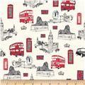 We need to make matching letters from this fabric!-Riley Blake British Invasion Main Cream