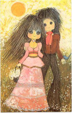 long-hair-boy-girl-hippie-birthday-card.jpg (771×1207)