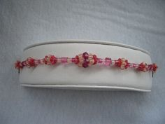 Shades of  Pink Crystal Hand Stitched Beaded by AcadianGlassArt