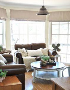 Wohnzimmer Fenster Deko Sichtschutz Faltrollo