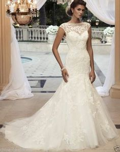 New White Ivory Wedding Dress Bridal Gown