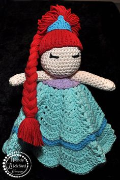 Baby Princess Crocheted Lovey