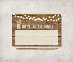 Advice for the bride and groom Printable Digital by tranquillina