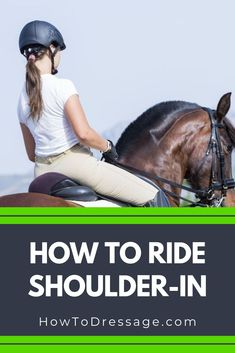 Shoulder-in is a very useful schooling exercise used to improve the horse's balance, engagement, and lateral suppleness. The exercise also … Horseback Riding Tips, Horse Riding Tips, Horse Tips, Trail Riding, Horse Exercises, Dressage Horses, Appaloosa Horses, Riding Lessons, English Riding
