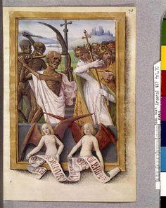 Death mowing the great of this world Hours of François de Bourbon-Vendôme. - Tours 1475 -1480 (?) Master of Bourbon-Vendôme (15th century)