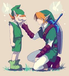 Why is this so sad? Seriously, every Older Link and Mido art gets me everytime. Along with Saria and Older Link art as well...