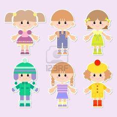cartoon drawings of children Stock Photo