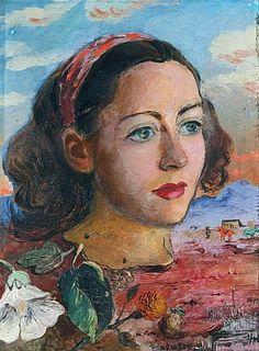 Surrealistic Portrait, 1947, David Burliuk