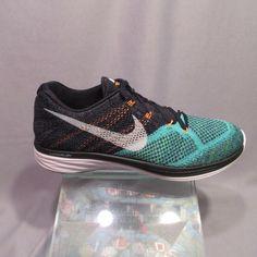 7424ad9ce80 Nike Flyknit Lunar 3 698181 008 Black Hyper Jade Mens Nike Shoe Size 12
