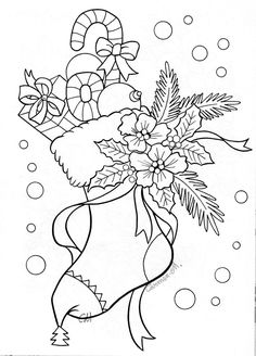 "Coloring pages for adults / previous pinner said ""Vánoce - omalovánka"""