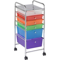 6-Drawer Mobile Organizer, Multi-Colored $56.00