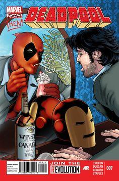 Deadpool Bugle: Gerry Duggan Discusses Deadpool #7: kind of funny (laserdiscs)...not as cool as original Iron Man issue