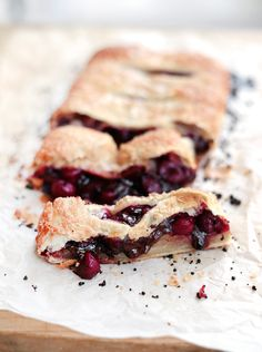 Cherry and Chocolate Puff Pastry Pie