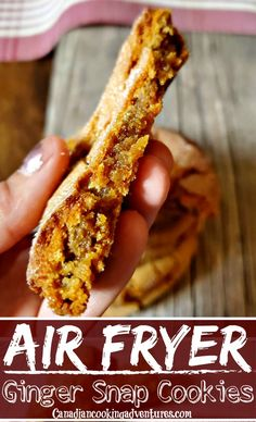 The Best Ginger Snap Cookie Recipe For Fall! These air fryer ginger snap cookies are soft Ginger Snap Cookies, Ginger Snaps, Hot Dog Buns, Delicious Desserts, Bread, Recipes, Food, Rezepte, Breads
