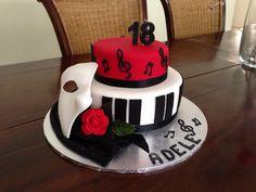 Phantom of the opera 13 Birthday Cake, 17th Birthday, Opera Cake, Phantom Of The Opera, Cakes And More, Cassie, Cake Ideas, 50th, June
