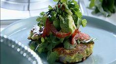 Sweetcorn Fritters with avocado Salsa - Bill Granger