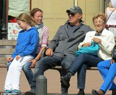 Bruce with his mother, sister, and niece.