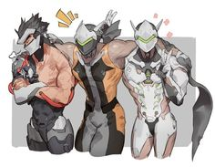 I kinda want that middle Genji as a skin Overwatch Comic, Overwatch Video Game, Overwatch Genji, Overwatch Memes, Overwatch Fan Art, Overwatch Drawings, Drag Queens, My Character, Character Design