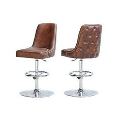Swivel modern Leather bar stool seat vintage cigar brown chrome superb comfort | eBay, £723 http://www.ebay.co.uk/itm/Swivel-modern-Leather-bar-stool-seat-vintage-cigar-brown-chrome-superb-comfort-/261260417771?pt=US_Chairshash=item3cd4559aeb