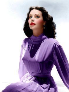 Hedy Lamarr (Color by BrendaJM-copyright 2018)