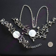 "Set+""Eventide"" Gothic Jewelry, Charmed, Bracelets, Goth Jewelry, Bangles, Bracelet, Arm Bracelets, Anklets, Bangle"