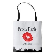 From Paris with Love fashion tote bag Sac