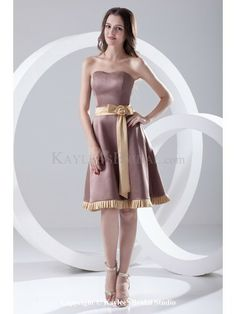 b5fed372726 Satin Sweetheart A-Line Knee-Length Sash and Bow Cocktail Dress Sell Bridesmaid  Dress