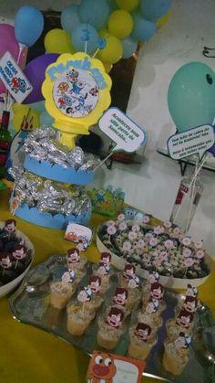 Mesa do bolo e docinhos... Decoração Hora da Aventura, Incrível Mundo de Gumball, Gravity Falls, Regular Show