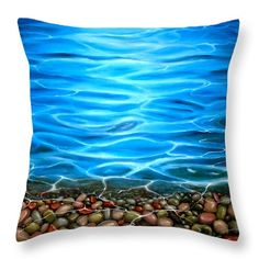 Pebbles Throw Pillow featuring the painting Luminosity by Faye Anastasopoulou