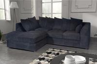 Logan Corner Sofa Fabric Jumbo Cord With Footstool Corner Sofa Fabric Corner Sofa Cheap Fabric Sofa