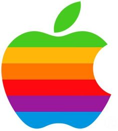 Rainbow Apple Logo☁ #Rainbows #Color #Colors