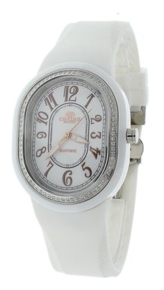 Copy of Oniss ON626-WHT Women's Watch White Rubber Strap Rose-Tone Dial Markers Oval Case