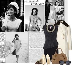 """""""Jacqueline Onassis Kennedy - A Tribute"""" by riennise ❤ liked on Polyvore"""