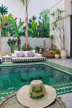 riad yasmine garden swimming pool marrakech riads morocco